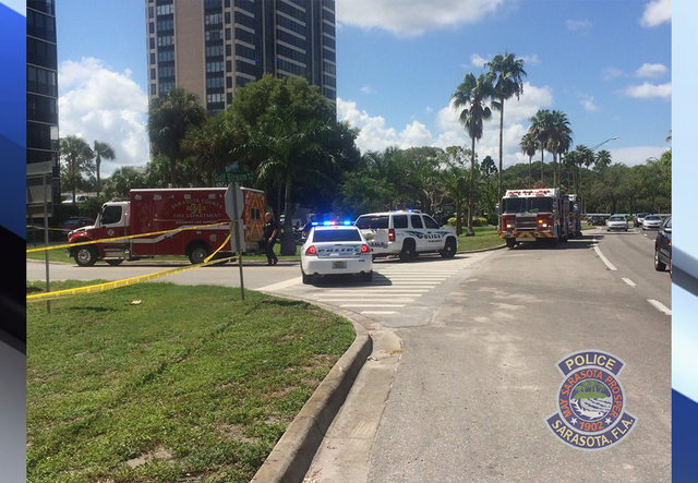 Worker trapped high over Sarasota after scaffolding collapses