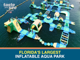 Check out Florida's largest inflatable aqua park