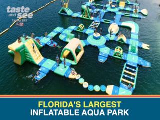 Check out Florida's largest inflatable aqua park