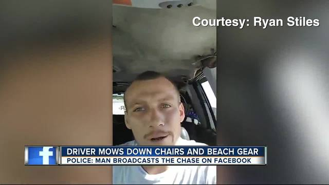 Man accused of driving onto Caladesi Island while live on Facebook
