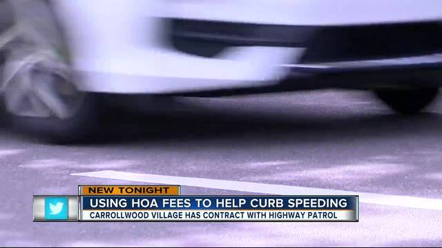 Tampa Bay Area-s community uses HOA fees to curb speeding