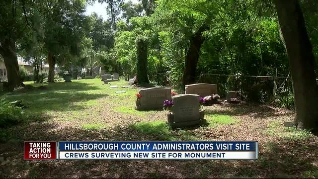County staff visit Brandon cemetery to survey site for new Confederate monument