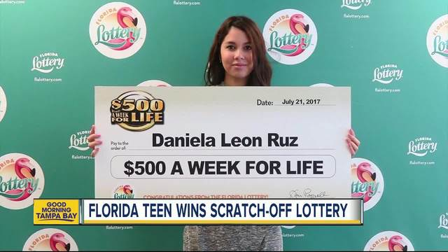 18-year-old Orlando girl claims -500 A Week For Life top prize from…