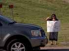 Teacher panhandles to raise money for supplies