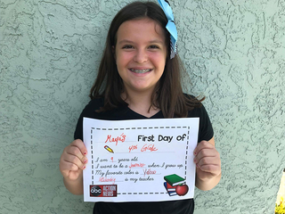 Back-to-School: First Day Of School Printable