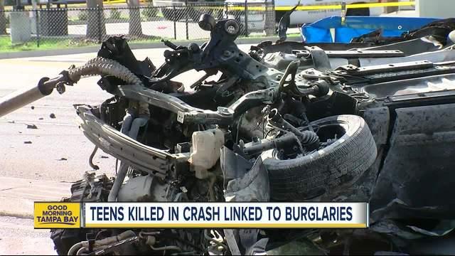 Teens Killed In Car Crash Pinellas County