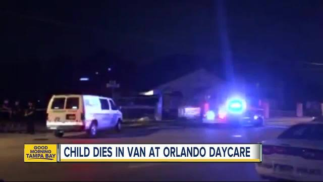 A little boy was found dead in a van outside of a Florida daycare on Monday night a spokesman for the Orlando Police Department said