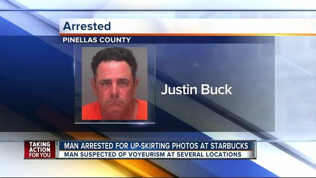 Arrested for upskirt pictures