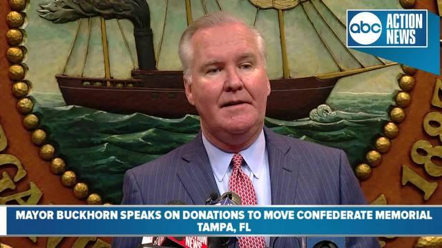 Mayor Bob Buckhorn donates money to remove confederate memorial