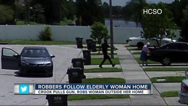 Suspects follow 86-year-old woman home- rob her