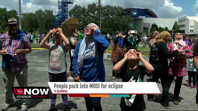 People pack into MOSI for solar eclipse