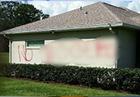 Racist slur painted on home of Fla. family