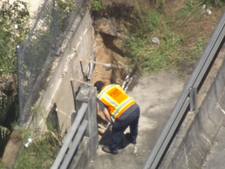 Fletcher Ave. closed due to erosion