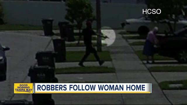 Suspects follow 86-year-old woman home from grocery store and rob her