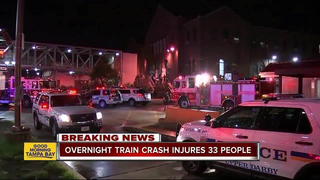 Overnight train crash injures 33 people