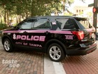 Tampa Police Department unveils pink patrol cars