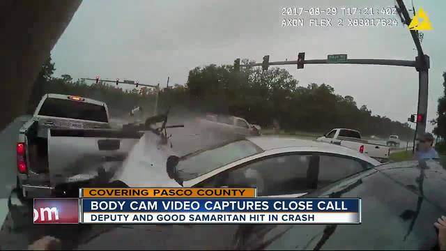 Body-cam video shows second crash that injures two Florida deputy sheriffs