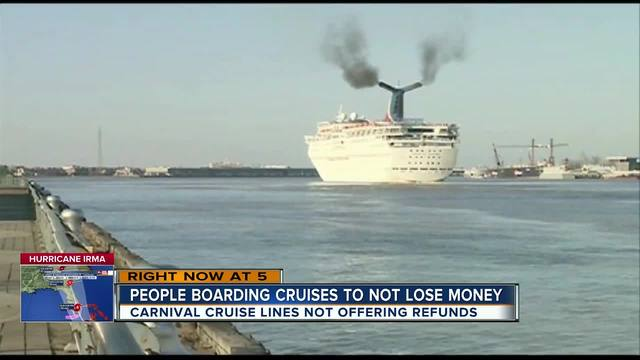 Cruise company uses ship as hurricane 'safe haven' for employees