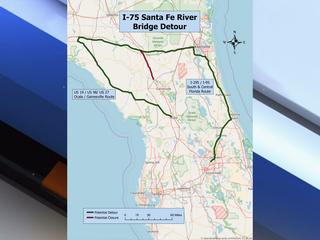 I-75 near Santa Fe River will remain open