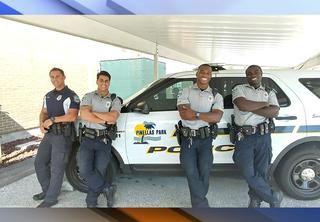 'Hot' cop battle between Florida police