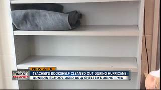 Books missing from classroom used as shelter