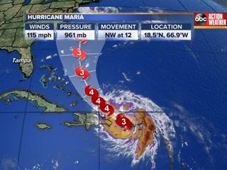 Hurricane Maria moves away from Puerto Rico