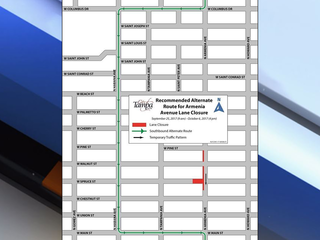Portion of N Armenia Ave. to close for 2 weeks