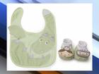Infant bib, bootie sets recalled due to choking