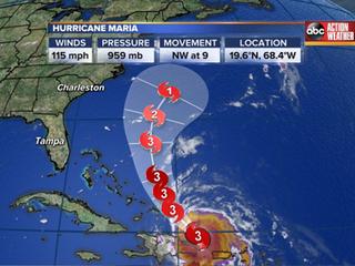 Hurricane Maria heads for Turks and Caicos