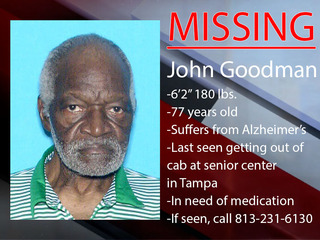 Tampa Police search for missing 77-year-old