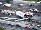 PHOTOS: Semi hauling pumpkins crashes, driver ok