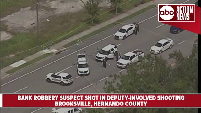Hernando bank robbery suspect hospitalized after chase, standoff with deputies