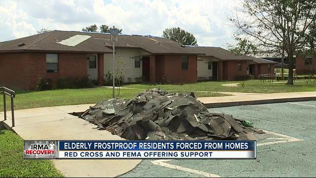 Frostproof apartment residents forced out by leaky roofs after Irma