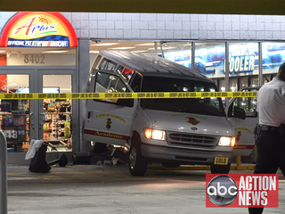 Deputies: Suspects crashed van into gas station