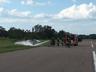 Small plane & helicopter collide, 2 injured
