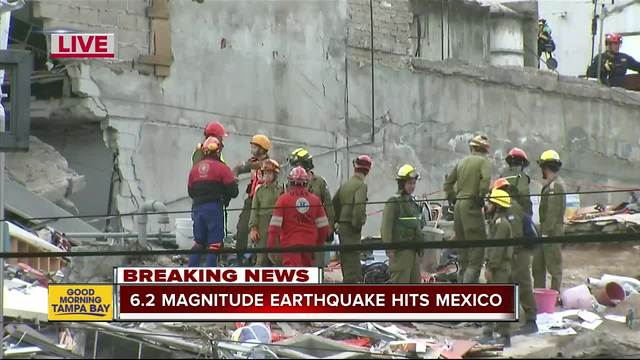 Strong 6-2 aftershock rocks southern Mexico