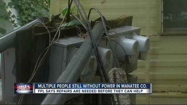 Mobile home park still without power