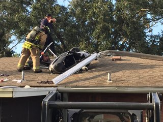 Helicopter crashes on roof of house in Odessa