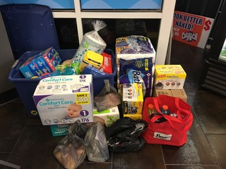 Drop-off sites for hurricane relief donations