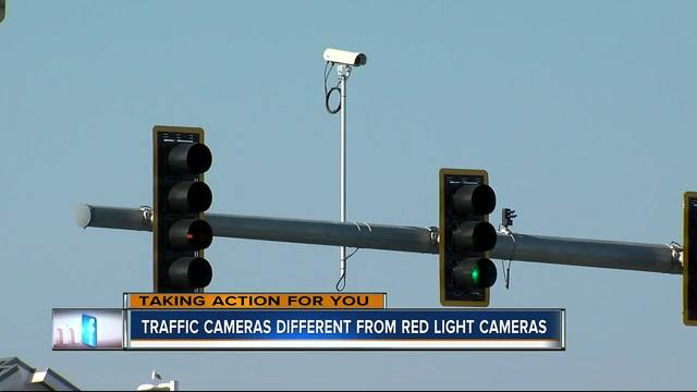 Can you tell the difference from a red light camera and a traffic monitoring camera ...