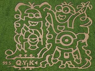 Minion themed corn maze at HarvestMoon Farm
