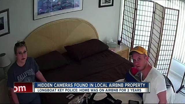 Couple discovers hidden camera in bedroom of Airbnb