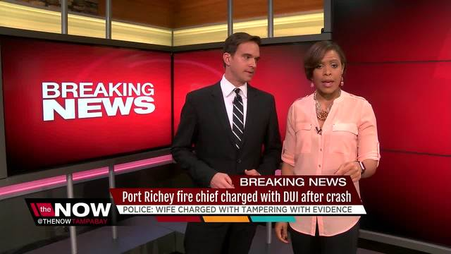 Port Richey fire chief charged with DUI after crash
