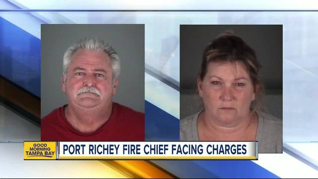Port Richey fire chief- wife arrested after motorcycle crash -amp- altercation