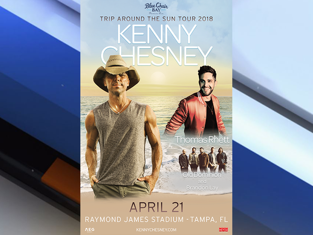 Kenny Chesney to perform at Miller Park on April 28th