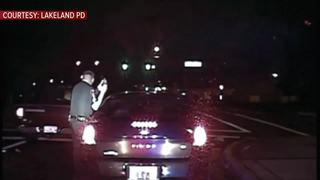 WATCH   Lakeland officer grazed by drunk driver