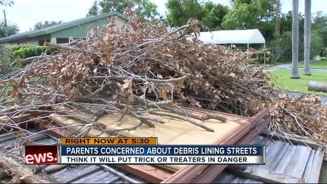 Parents- Hurricane debris will endanger trick-or-treaters