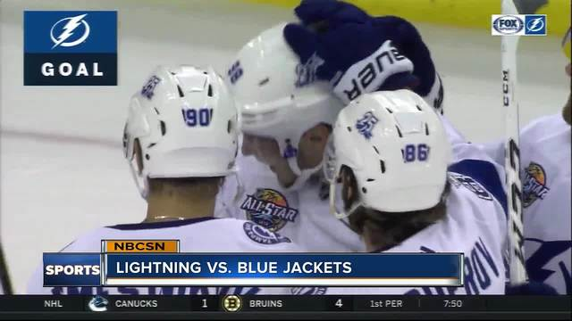Mikhail Sergachev scores twice- Tampa Bay Lightning beat Columbus Blue…