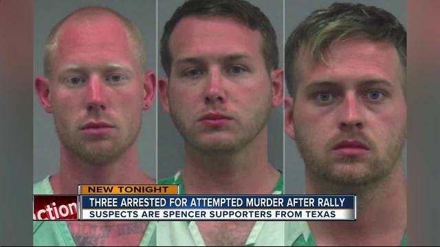 Three arrested after shooting following white nationalist Richard…
