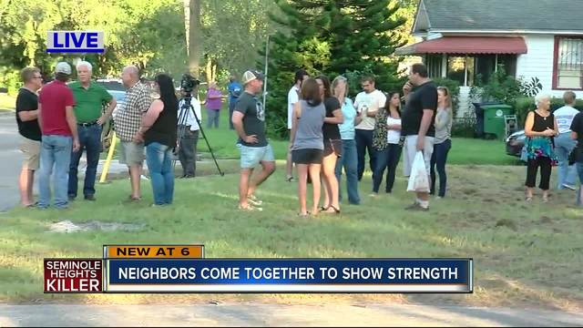 Southeast Seminole Heights banding together following murders
